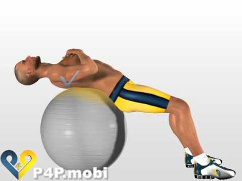 Top Exercices Abdominaux Crunch avec ballon de gymnastique - YouTube XO83