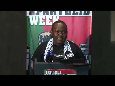 Son of anti-apartheid icon activist Frank Chikane at Israeli Apartheid Week 2015 launch