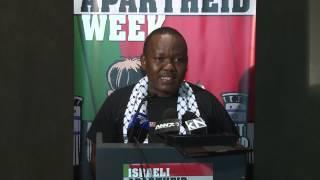 Son of anti-apartheid icon activist Frank Chikane at Israeli Apartheid Week 2015 launch