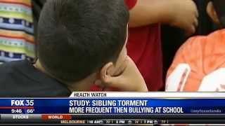 Sibling Bullying More Common than School Bullying