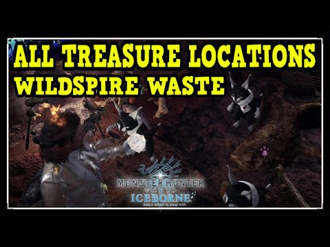 MHW Iceborne Wildspire Waste All Treasure Locations - Ultimate Collector Trophy / Achievement Guide
