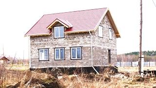 Строительство дома из бетонных блоков. Дёшево и надёжно!!!