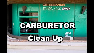 🔧 How to fix a clogged Carburetor on an Onan Generator  Quick and Easy!