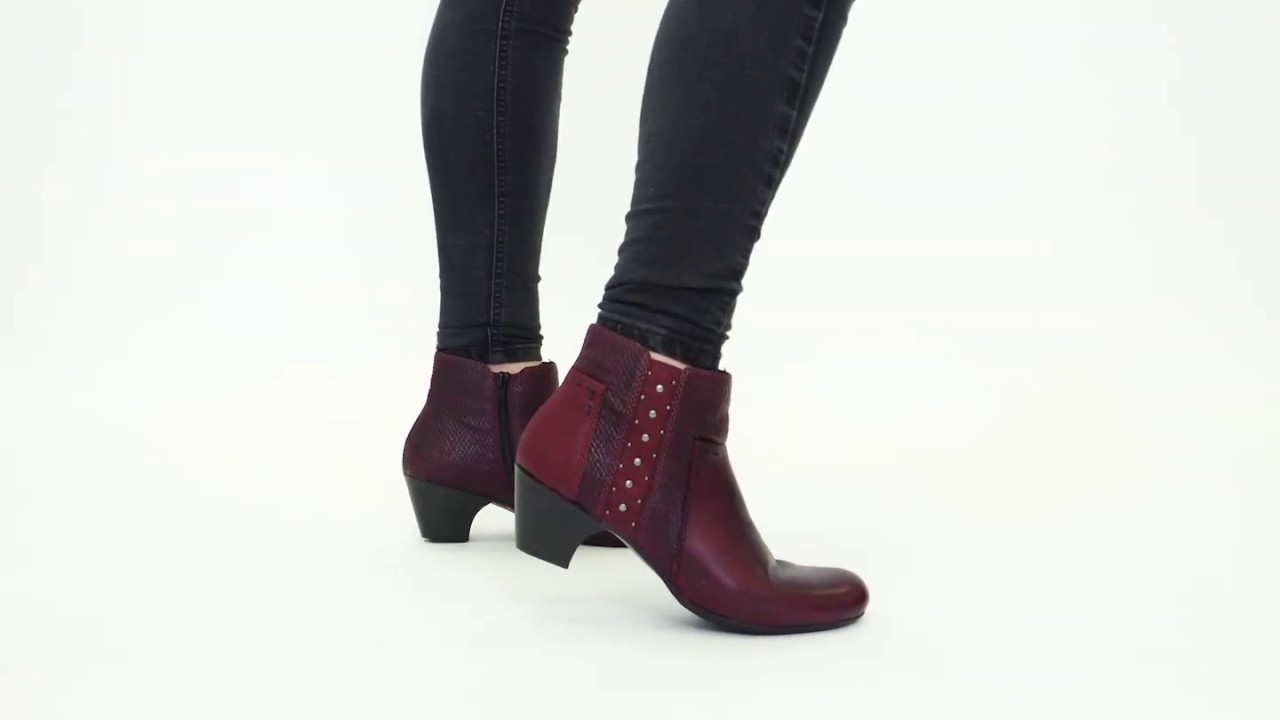 great fit where to buy new lifestyle | Shuperb™ Rieker 70571-35 Ladies Block Heel Ankle Boots Bordeaux