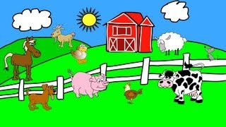 Animals On The Farm - Animal Sounds - Learn the Sounds Farm Animals Make