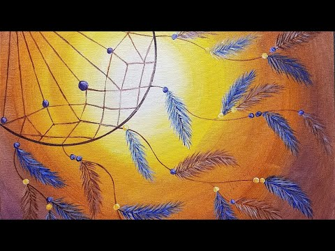 DREAM CATCHER Beginner Acrylic Painting Tutorial LIVE 2017 Personalized WISHES on Canvas