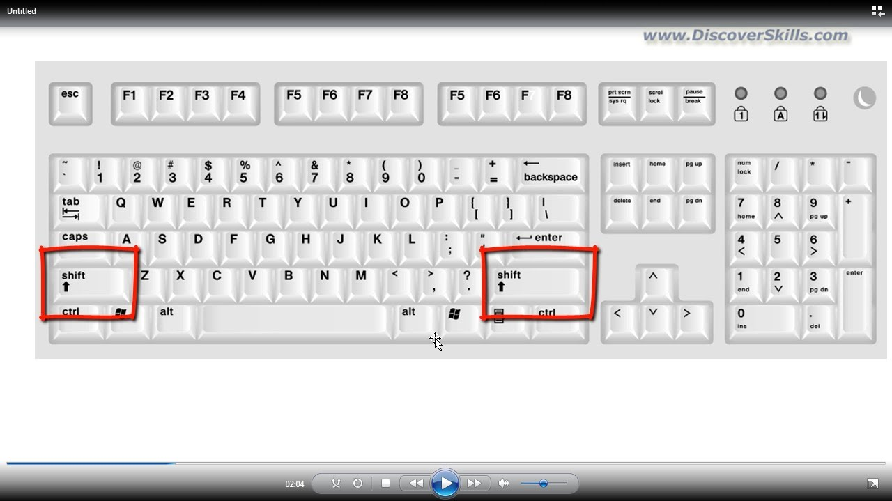 How to select using the keyboard 59