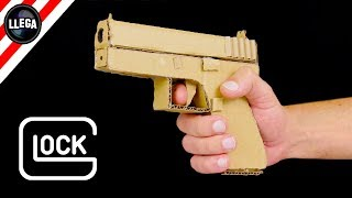 HOW TO MAKE A GUN WITH CARDBOARD - GLOCK 17