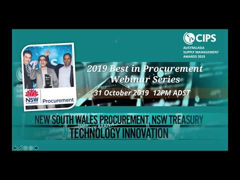 NSW Procurement, NSW Treasury - Best in Procurement Webinar Series 2019 - TECHNOLOGY INNOVATION