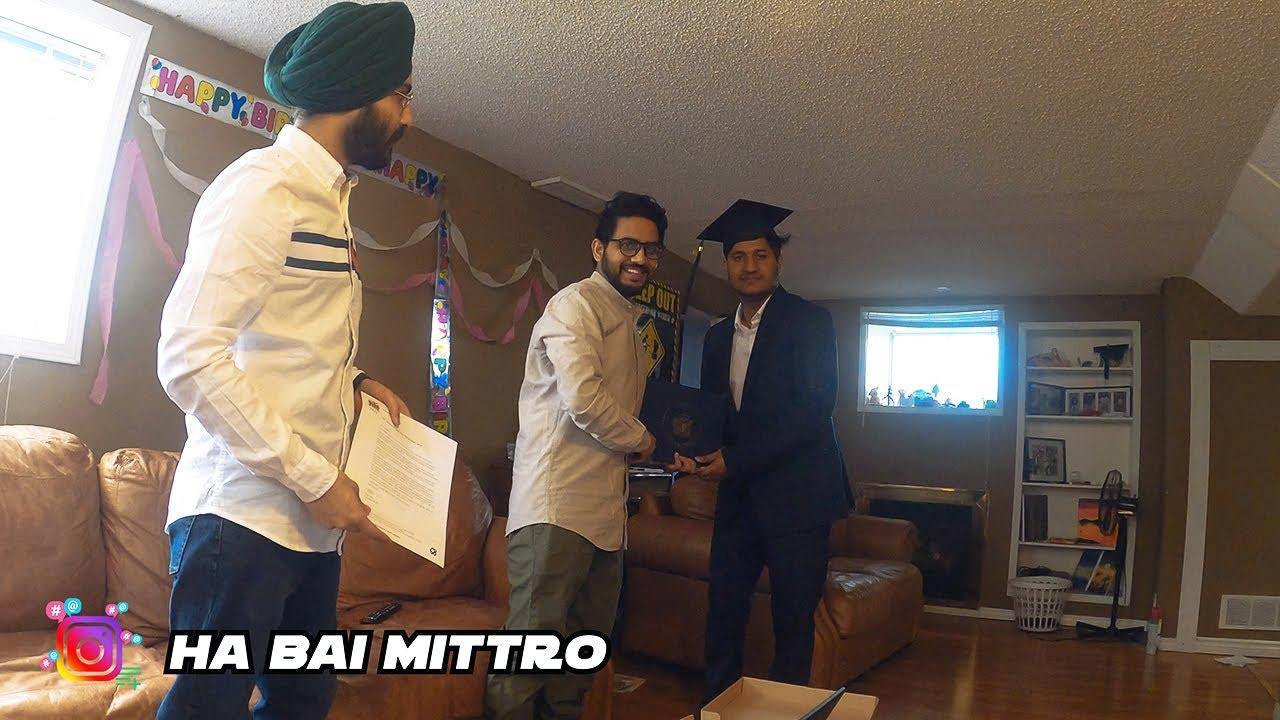 Online Graduation Ceremony 2020 - SHARMA G nu milgyi DEGREE (CANADA VLOG PUNJABI CONVOCATION 2020)