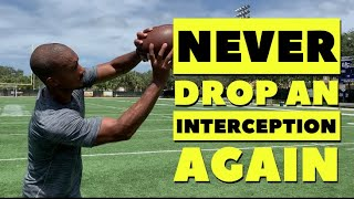 How To Catch The Football As A Defensive Back   DB Tips   All Eyes DB Camp