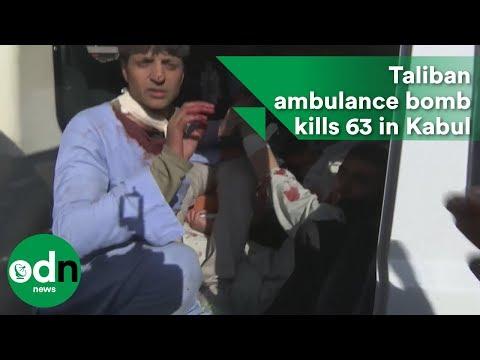 Taliban ambulance bomb kills 63 in Kabul, Afghanistan