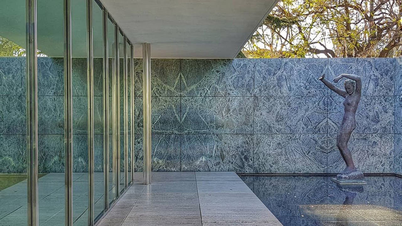 Walking Tour 2018 03 Mies Van Der Rohe S Barcelona Pavilion Youtube