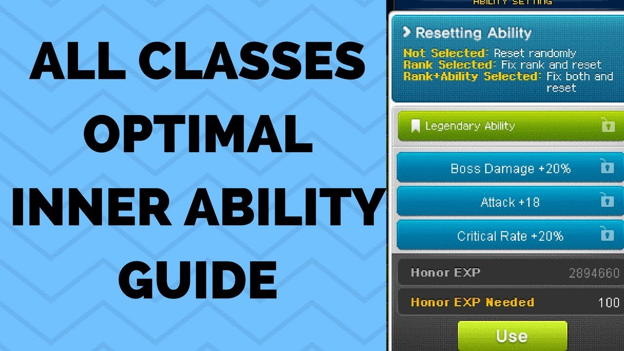 [MapleStory] All Classes Optimal Inner Ability / Link Skills Guide (see  description!)