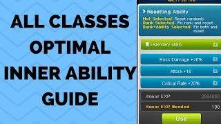[MapleStory] All Classes Optimal Inner Ability / Link Skills Guide (see description!)