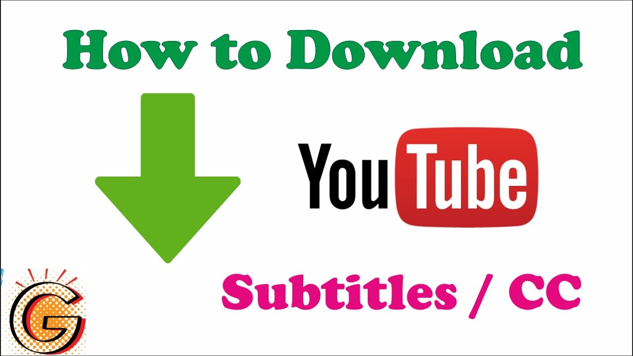 How to Download Subtitles from Youtube - YouTube