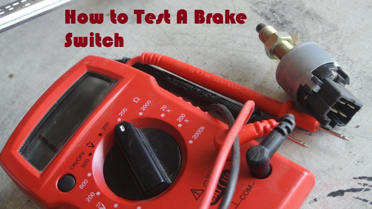 Checking For Continuity In A Brake Switch How To Test 1987 Honda Elite Wiring Motorcycle