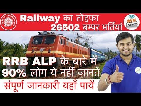 RRB ALP 2018 Notification Out | Railway का तोहफा 26502 बम्पर भर्तियां