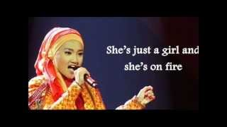 Fatin - Girl On Fire (Alicia Keys) Lyrics