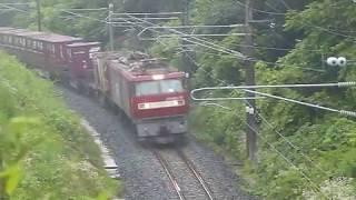 [警笛あり]貨物列車 EH500形75号機金太郎 北高岩駅付近通過