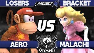 Olympus - Aero (Diddy Kong) vs Malachi (Peach) - PM Losers - Project M