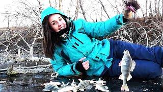 ВОТ И НА ЗИМНЕЙ РЫБАЛКЕ ЖЕНА ОБЛОВИЛА Ловля на жерлицы щуки и окуня на блесна Зимняя рыбалка