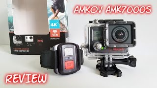 Amkov AMK7000S 4K WiFi Action Camera REVIEW & Sample Footage