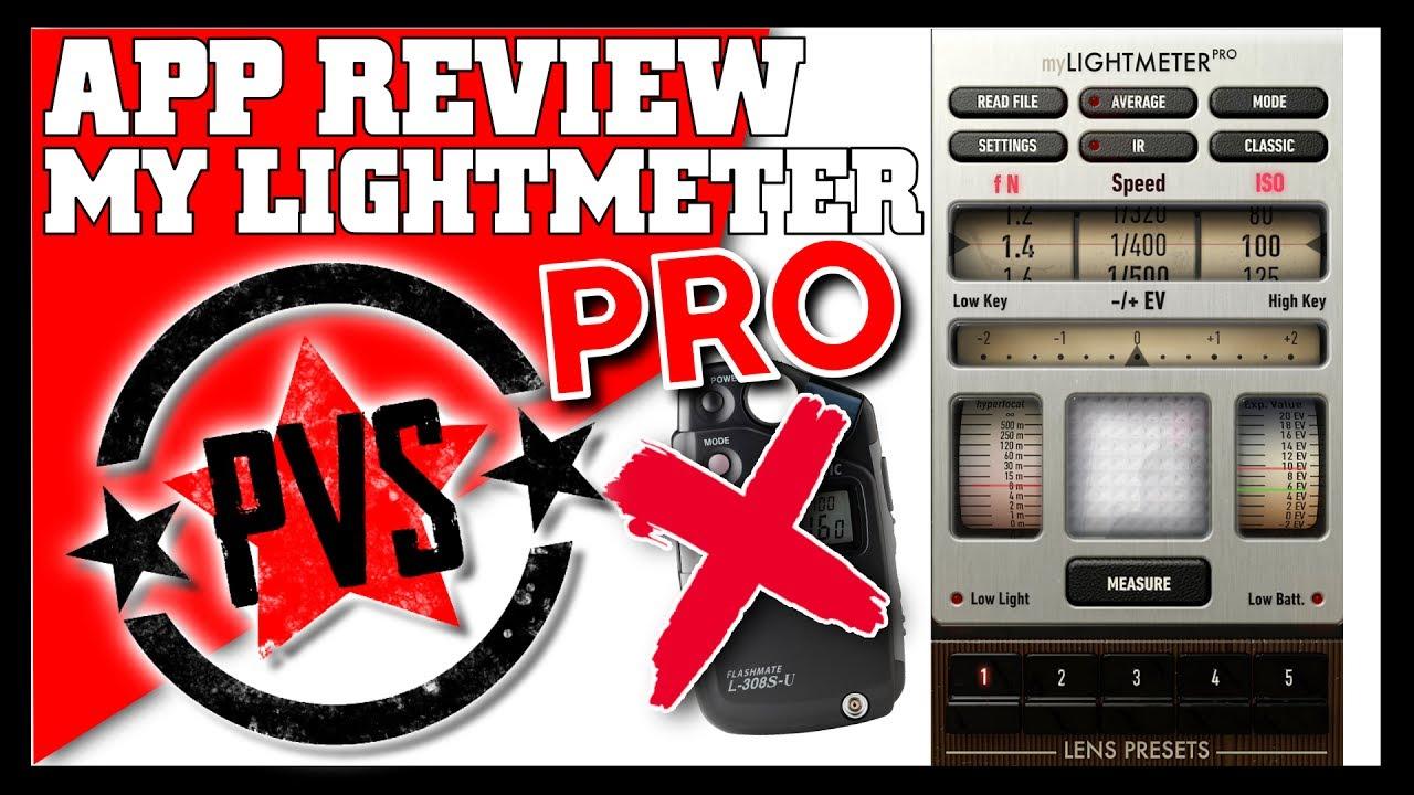 A Light Meter ALWAYS In Your POCKET! MyLightMeter Pro