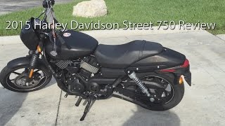 2015 Harley Davidson Street 750 Motorcycle Review