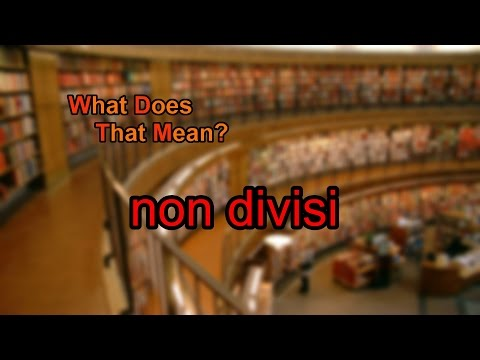 What does non divisi mean?
