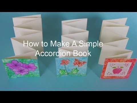 How to Make A Simple Accordion Book - YouTube