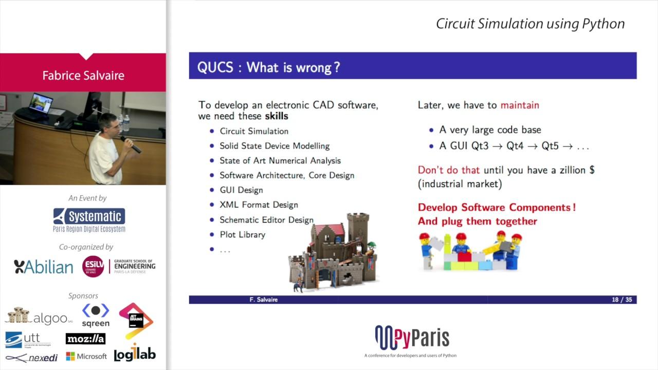 Pyparis 2017 Circuit Simulation Using Python By Fabrice Salvaire Circuitsimulation