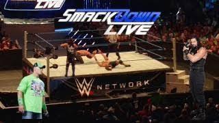 wwe smackdown live dark match roman reigns john cena vs aj styles seth rollins