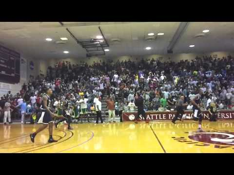 "5'9"" Isaiah Thomas blocks 6'8"" Trevor Ariza at the first ever Seattle Pro Am vs Drew League showdown"