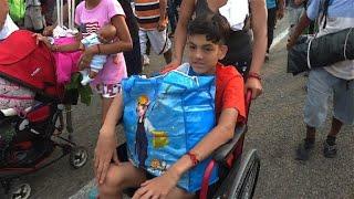 Richtung Amerika: Im Rollstuhl auf der Flucht