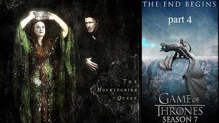 Sansa Stark, Jon Snow, Bran Stark and Petyr Baelish in Season 7.