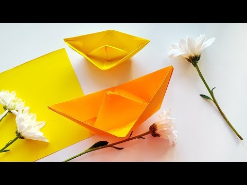 DIY Easy Origami Boat for Beginners - Paper Crafts Ideas for Kids \ Tutorial step by step