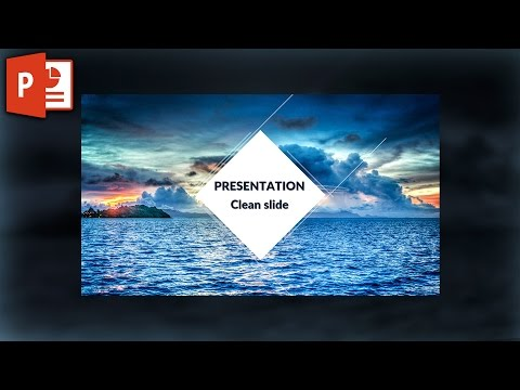 Clean image powerpoint slide template design ✔