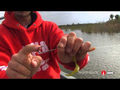 Fishing Bass With The VMC® Worm Hook