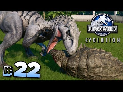 INDOMINUS REX Vs ANKYLOSAURUS!!! - Jurassic World Evolution FULL PLAYTHROUGH | Ep22 HD
