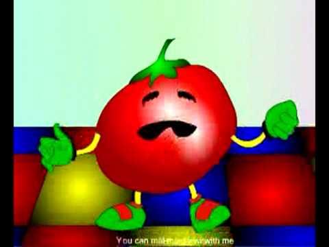 English Poems kids rhymes Tomato