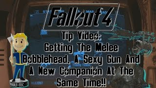 fallout 4 tip video find melee bobblehead cool minigun and super mutant companion
