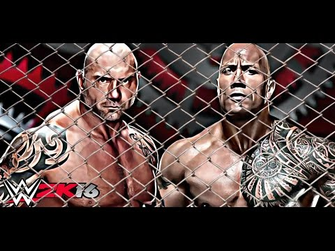 The Rock vs Batista Steel Cage full match...
