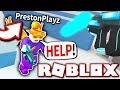 TEACHING A YOUTUBER HOW TO PLAY ROBLOX MINIGAMES!!