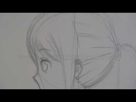 How To Draw Anime Girl Side View [Slow Narrated Tutorial]