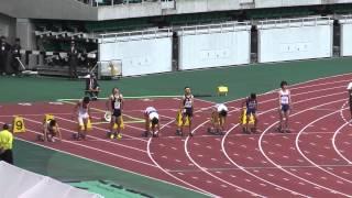 H24静岡県高校総体 男子100決勝 1着 10.67 日吉 克実 2 韮山 2着 10.7...