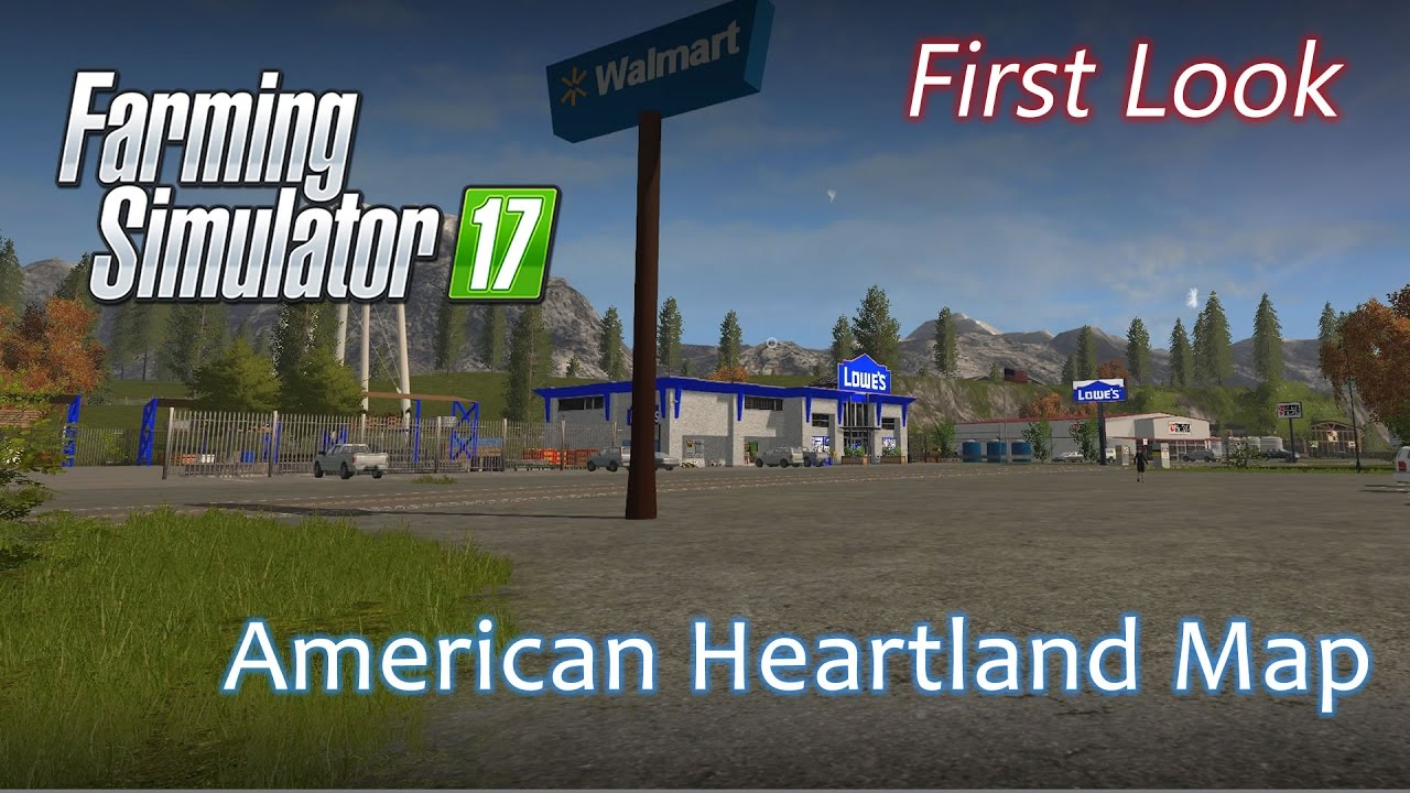 The American Heartland Map First Look Farming Simulator - Us map mod fs 17