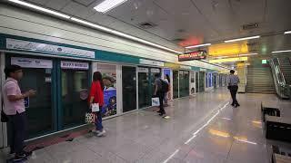 【韓国】 光州都市鉄道1号線 光州松汀駅  광주 도시철도 1호선 광주송정역 Gwangju Metro Line 1 Gwangju Songjeong Station (2019.8)