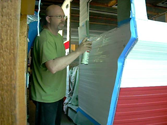 He Painted His Antique Shasta Camper For Less Than 50