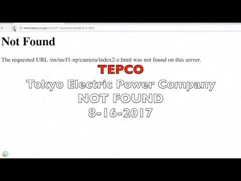 TEPCO Tokyo Electric Power Company NOT FOUND 8-16-2017   Organic Slant